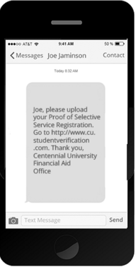 CampusLogic automates customizable text alerts